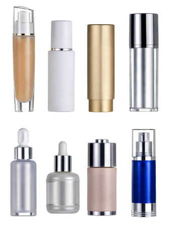 40807579 - cosmetics flasks. clipping path